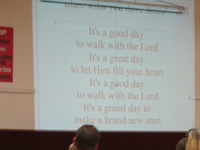 It's a good day to walk with the Lord
